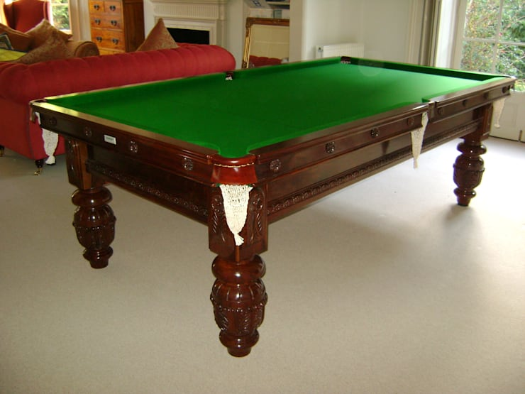 8 ft Carnegie Snooker/Pool Table:  Dining room by HAMILTON BILLIARDS & GAMES CO LTD