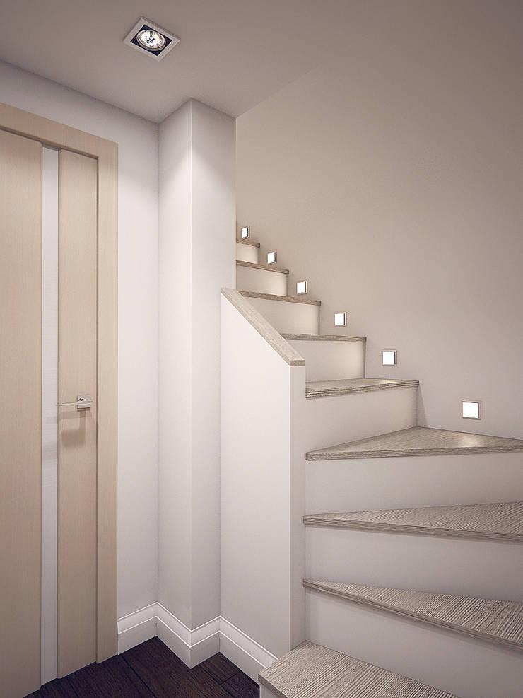 двухуровневая квартира-студия: Коридор и прихожая в . Автор – Студия m2style