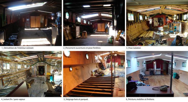 étapes de chantier:  de style  par tina merkes architecte