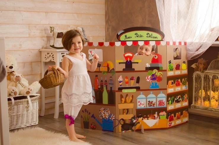 """Paravent enfant """"Épicerie"""": Chambre d'enfants de style  par mercilili.fr"""