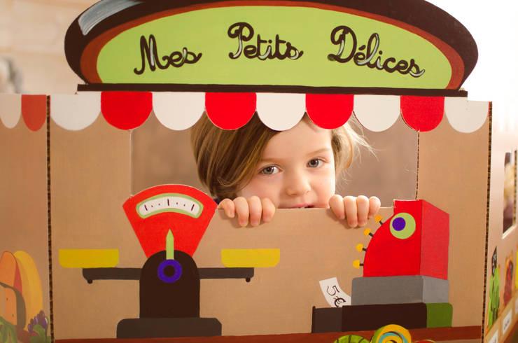 """Paravent """"Épicerie"""": Chambre d'enfants de style  par mercilili.fr"""