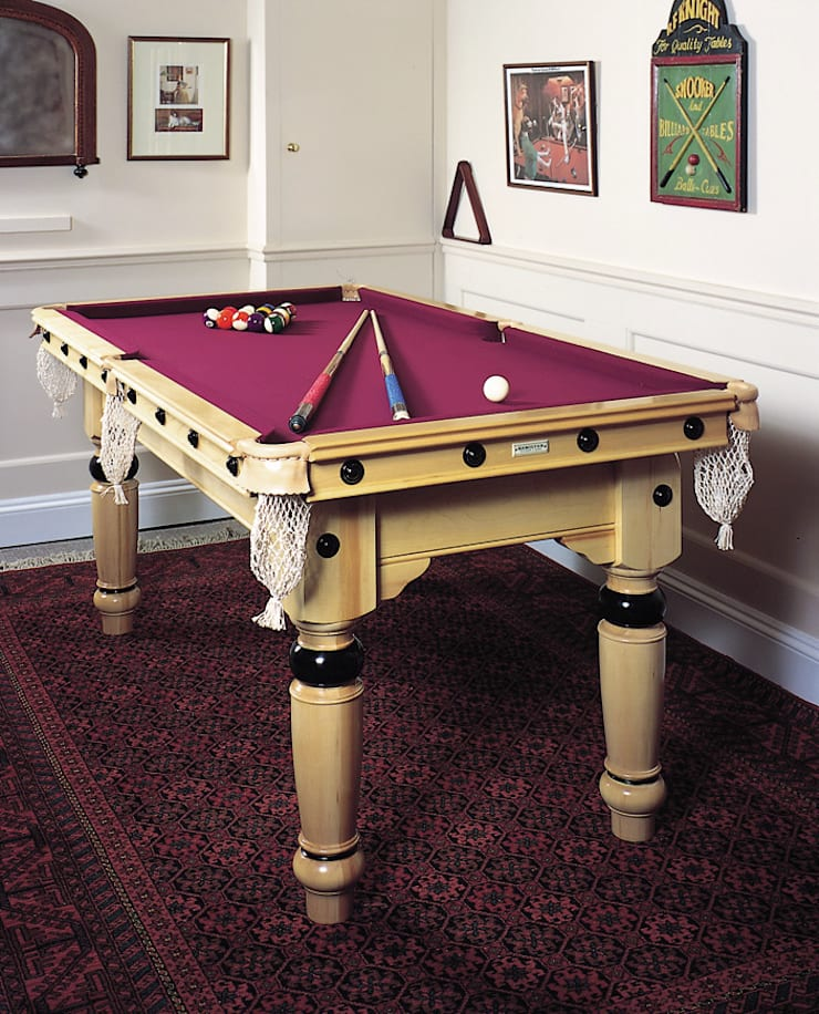 6 ft Ives Snooker/Pool Table on solid maple:  Dining room by HAMILTON BILLIARDS & GAMES CO LTD