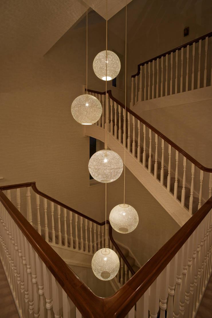 Rita 400 pendant light - stairwell:  Corridor, hallway & stairs by ..