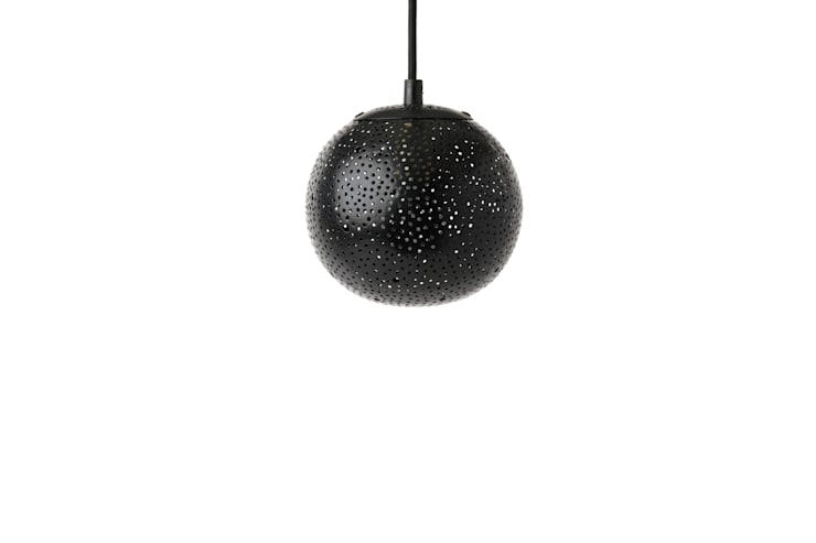 Gina 150 small pendant lights in black:  Bedroom by ..