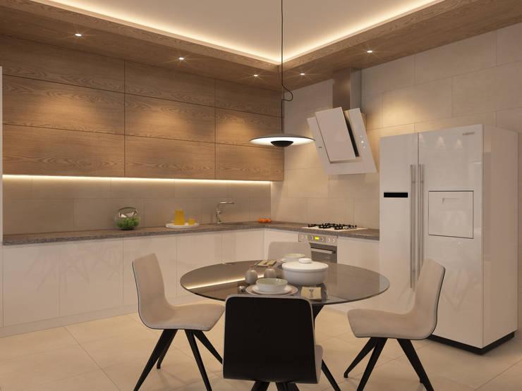 Секция 130 м2 в современном стиле: Кухни в . Автор – selfDesign