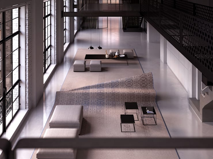 Stumble Upon Sofa:  Living room by Alessandro Isola Ltd