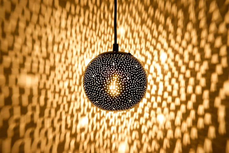 Gina 150 small pendant lights in black:  Corridor, hallway & stairs by ..