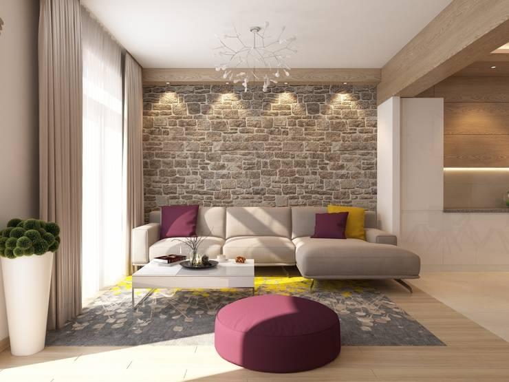 Секция 130 м2 в современном стиле: Гостиная в . Автор – selfDesign