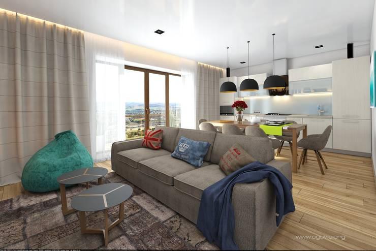 Дом в Краснодаре: Гостиная в . Автор – VIO design