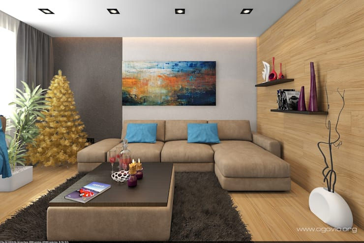minimalistic Living room by VIO design