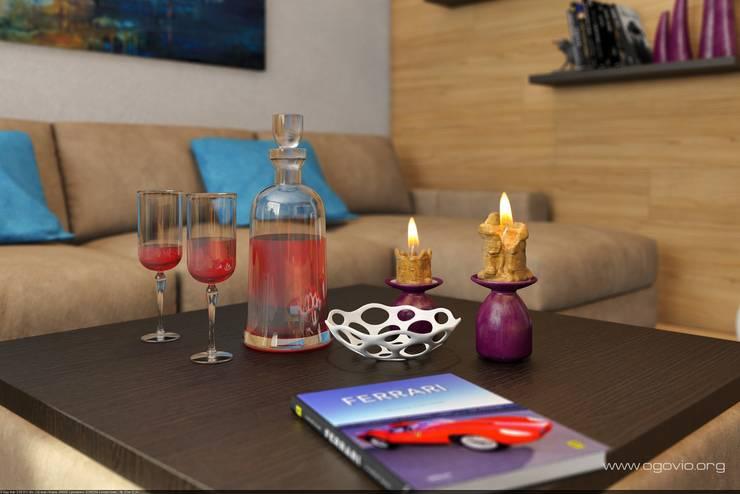 С Новым годом !: Гостиная в . Автор – VIO design