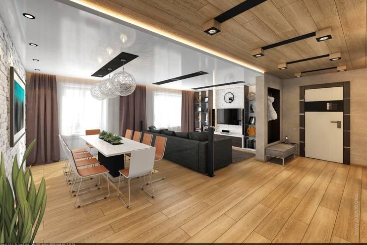 Уютное гнездышко: Гостиная в . Автор – VIO design