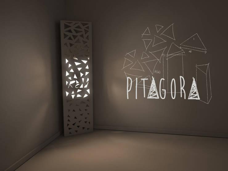 PITAGORA: Soggiorno in stile  di studio aCd architetti