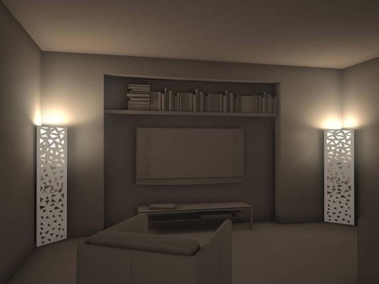 PITAGORA: Soggiorno in stile in stile Moderno di studio aCd architetti