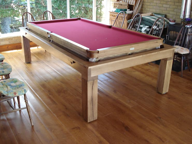 8 ft Sims Contemporary Diner with cherry cloth:  Dining room by HAMILTON BILLIARDS & GAMES CO LTD