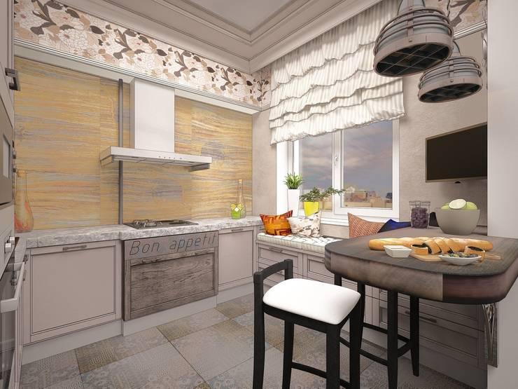 Выход из  лабиринта.: Кухни в . Автор – Частный дизайнер Оксана Пискарева