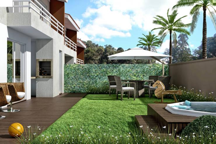 Residencial Ecovila Sambaqui: Casas  por Mantovani e Rita Arquitetura