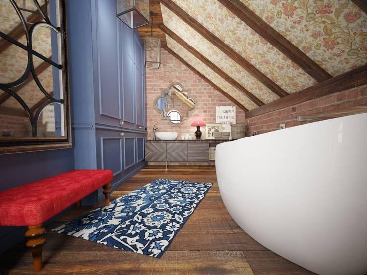 ЛОФТ в стиле JAZZ: Ванные комнаты в . Автор – Частный дизайнер Оксана Пискарева