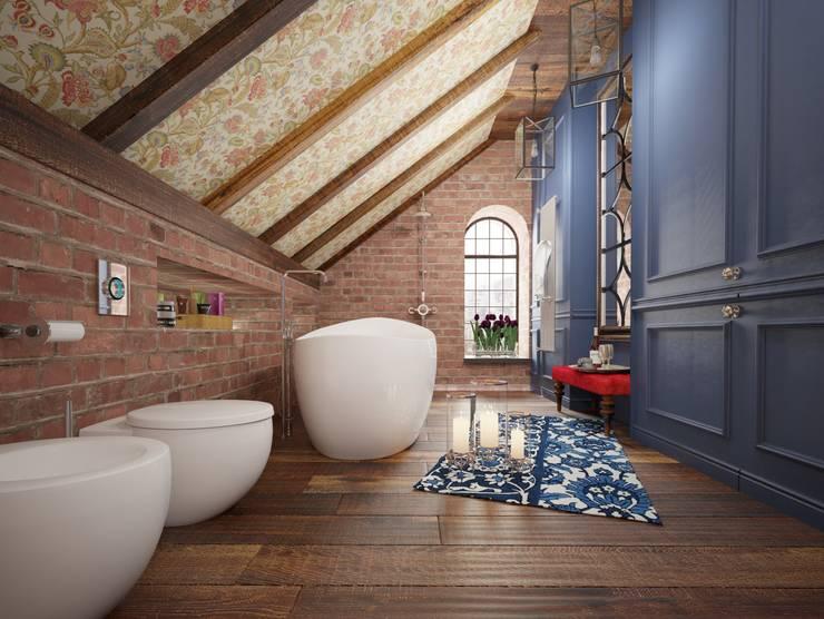 ЛОФТ в стиле JAZZ: Ванные комнаты в . Автор – Частный дизайнер Оксана Пискарева, Лофт