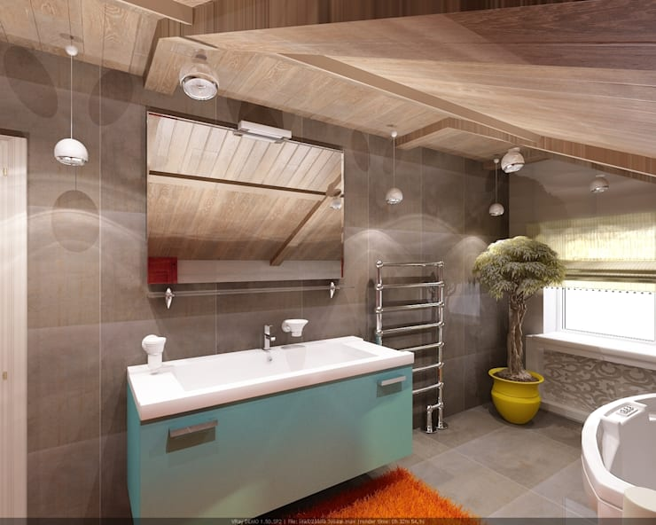 Industrial style bathroom by Студия дизайна Натали Хованской Industrial