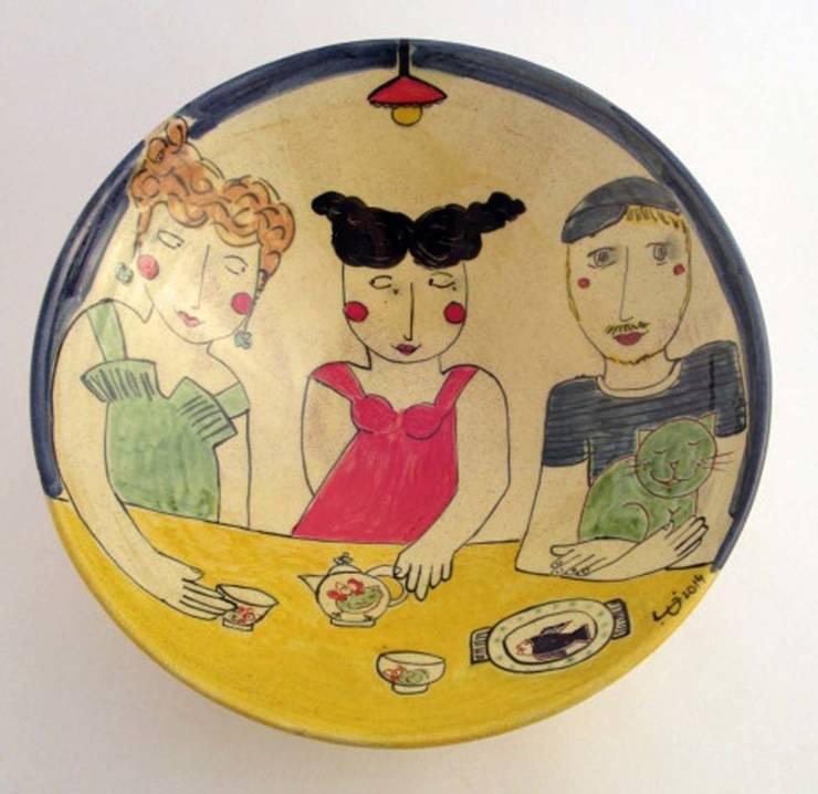 Coupe décorée par Fabienne Gilles Éclectique