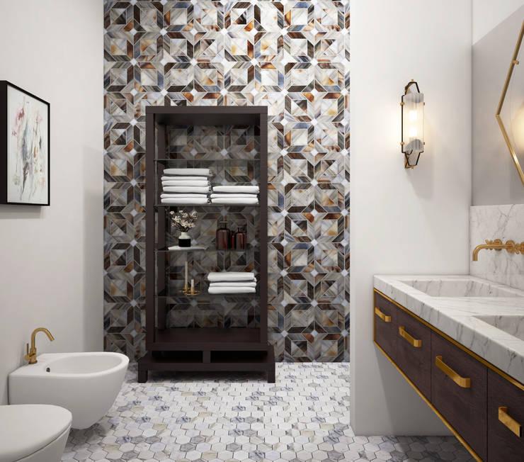 Гостевой санузел: Ванные комнаты в . Автор – ELENA BELORYBKINA