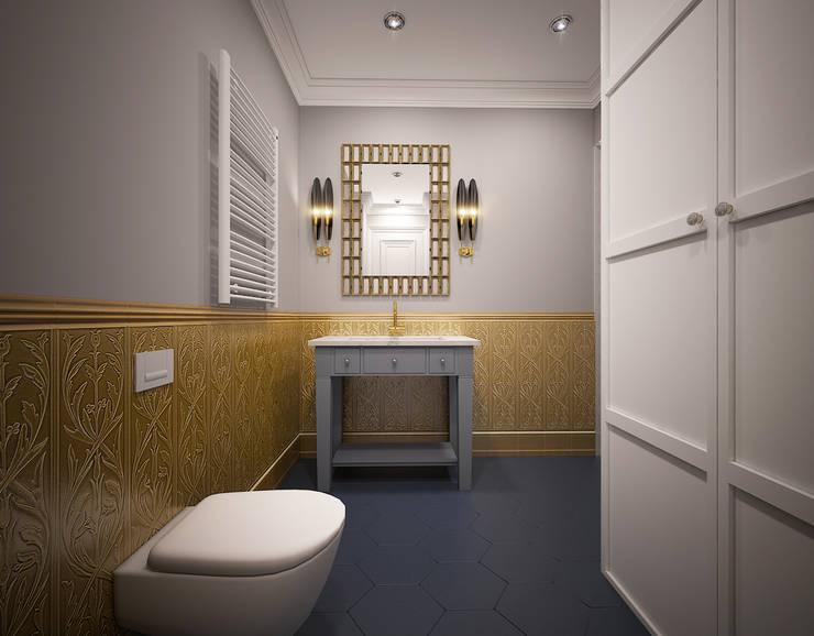 Душевая комната: Ванные комнаты в . Автор – ELENA BELORYBKINA