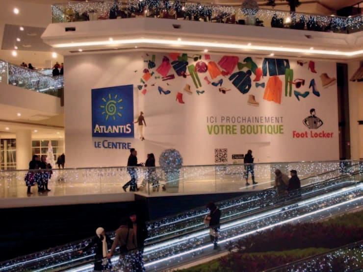 Tissu tendu Centres commerciaux modernes par Ymediadesign Moderne