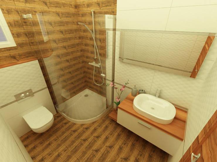 TEKNİK SANAT MİMARLIK LTD. ŞTİ. – M. YILMAZ EVİ:  tarz Banyo