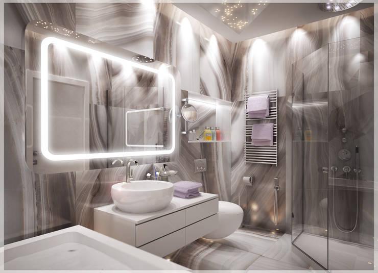 Разумный минимализм.: Ванные комнаты в . Автор – премиум интериум