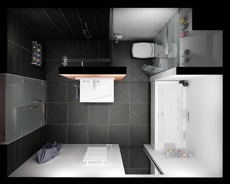 Современная квартира-студия. г. Казань: Ванные комнаты в . Автор – премиум интериум