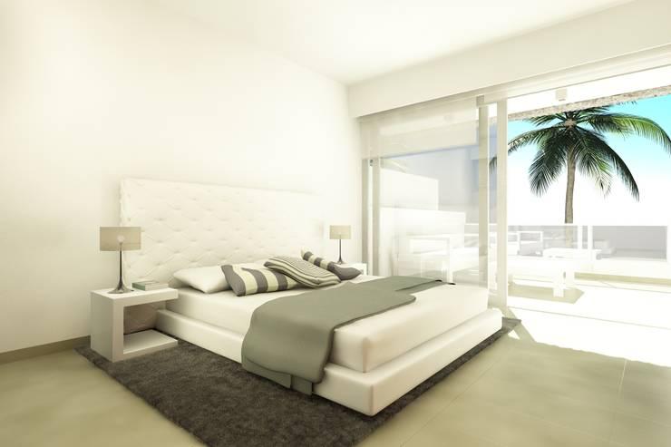 Urbanización La Caleta: Dormitorios de estilo  de Alicia Toledo