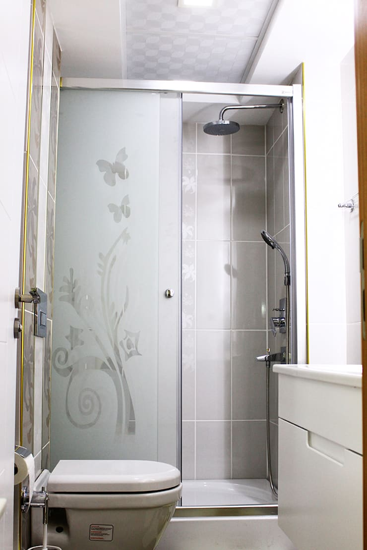TEKNİK SANAT MİMARLIK LTD. ŞTİ. – H. T. KIRAN EVİ:  tarz Banyo