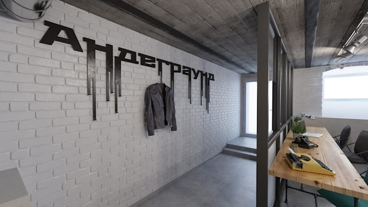 Коворкинг в стиле Лофт: Офисные помещения в . Автор – Икс-Три