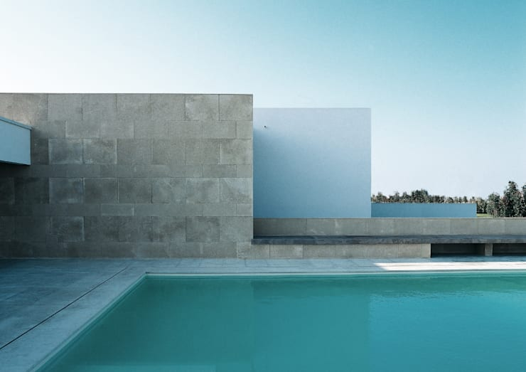 Casa B. / Suzzara, Mantova: Piscina in stile in stile Minimalista di STUDIO LONGHEU