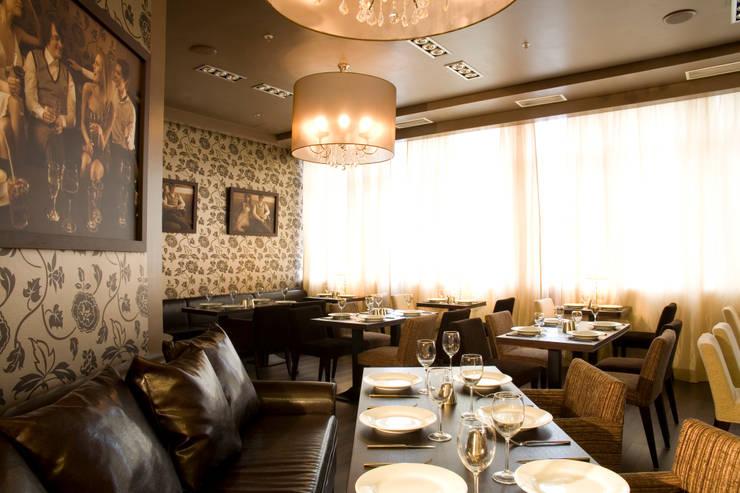 Ресторан Novый Most:  в . Автор – Мастерская Интерьеров Варвары Зеленецкой