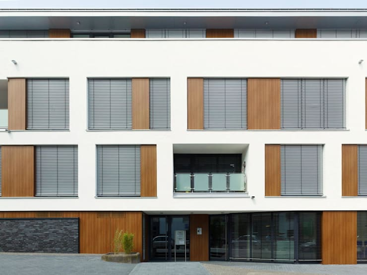Fassade: moderne Häuser von bdmp Architekten & Stadtplaner BDA GmbH & Co. KG
