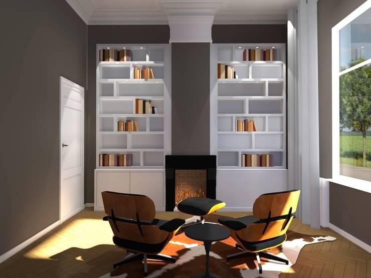 Kasten:  Studeerkamer/kantoor door Designed By David