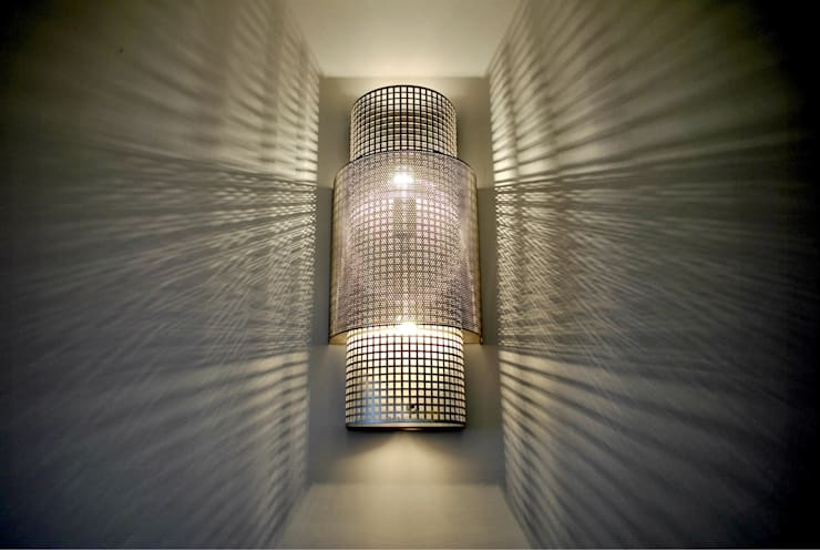 Beijing Wall light: styl , w kategorii Salon zaprojektowany przez Archerlamps - Lighting & Furniture,