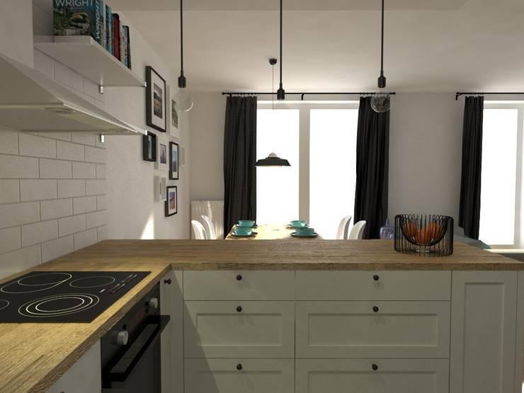 Nadwiślańska \ wizualizacje: styl , w kategorii Kuchnia zaprojektowany przez NIESKROMNE PROGI