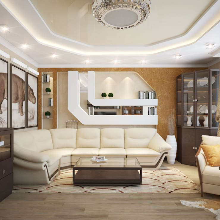 Eclectic style living room by Студия Дизайна Интерьера MALGRIM Eclectic