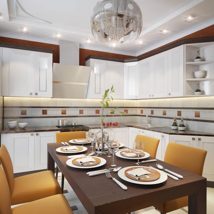 Cucina in stile  di Студия Дизайна Интерьера MALGRIM