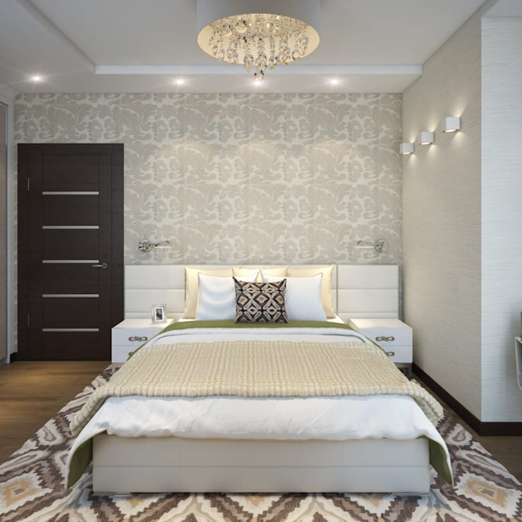 Eclectic style bedroom by Студия Дизайна Интерьера MALGRIM Eclectic