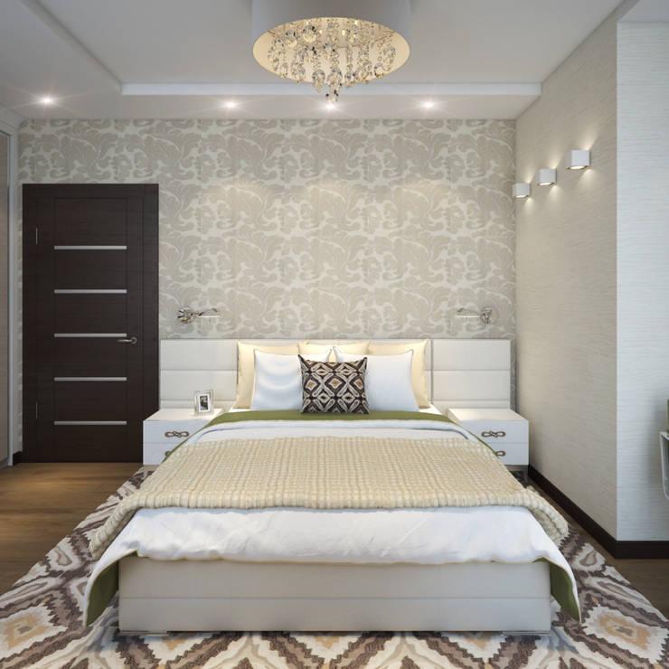 Camera da letto in stile  di Студия Дизайна Интерьера MALGRIM