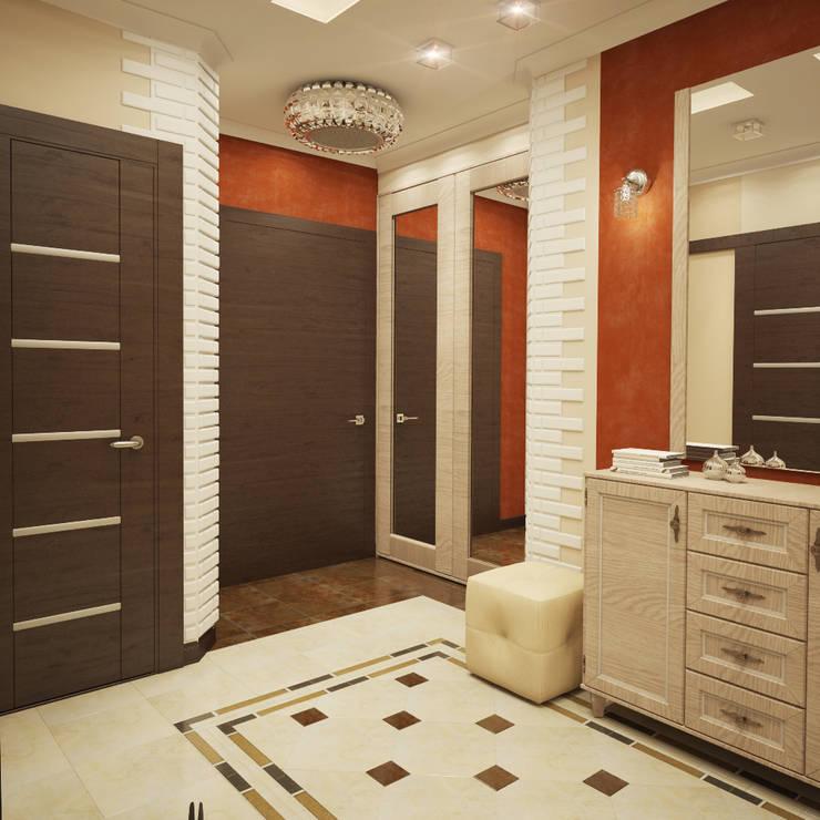 Eclectic style corridor, hallway & stairs by Студия Дизайна Интерьера MALGRIM Eclectic