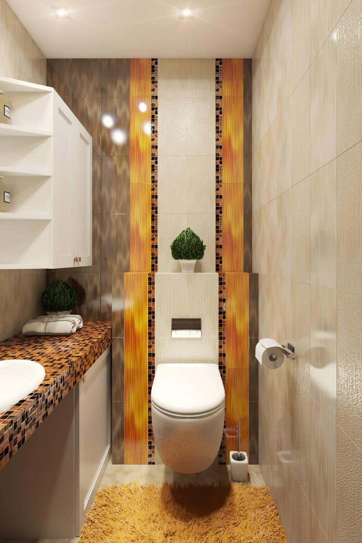 Eclectic style bathroom by Студия Дизайна Интерьера MALGRIM Eclectic