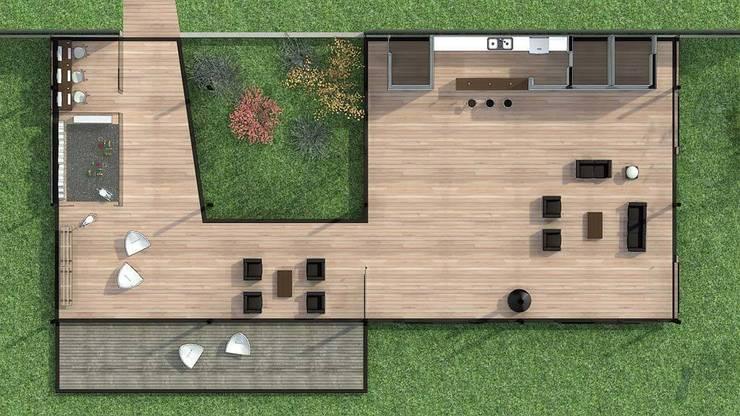 Pavilhão Jardim das Palmeiras: Salas de estar modernas por ODVO Arquitetura e Urbanismo