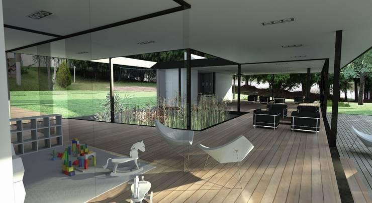 Pavilhão Jardim das Palmeiras: Casas modernas por ODVO Arquitetura e Urbanismo