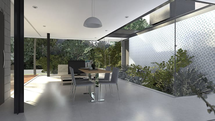 Casa Varanda: Salas de jantar modernas por ODVO Arquitetura e Urbanismo
