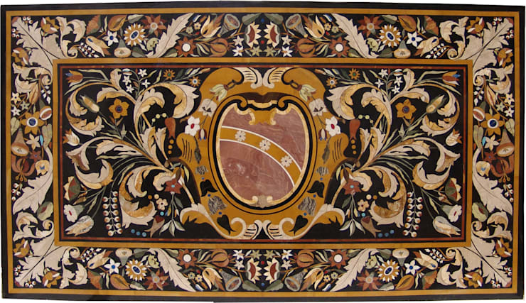 """Tablero rectangular de mármol negro """"escudo"""": Salones de estilo  de Conely"""
